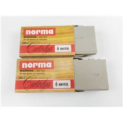 NORMA 6MM REM AMMO
