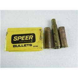SPEER .490 BULLETS & BRASS CASES
