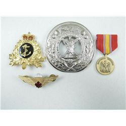 ASSORTED PIN, MEDALS & BADGES