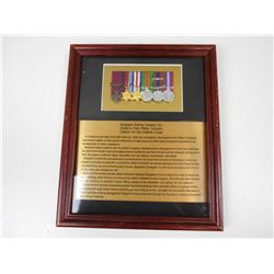 WWII SGT AUBREY COSENS MINITURE MEDALS & CITATION