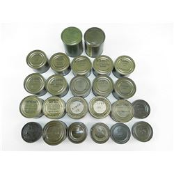 ASSORTED MILITARY FOOD SUPPLIES