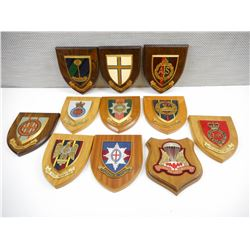 ASSORTED BRITISH REGIMENTAL WALL PLAQUES