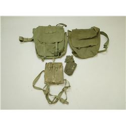 ASSORTED MILITARY  SATCHELS & POUCHES
