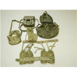 ASSORTED MILITARY WEBBING, SATCHELS & BAGS