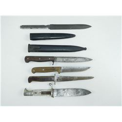 ASSORTED KNIVES & PARTS