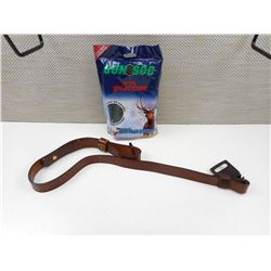 (1) LEATHER RIFLE SLING & SOCK