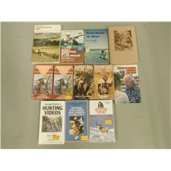 ASSORTED HUNTING/SHOOTING VHS & BOOKS