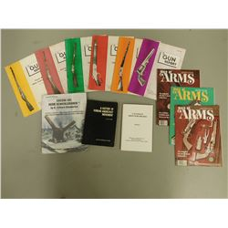 ASSORTED FIREARMS & MILITARY BOOKS/MAGAZINES