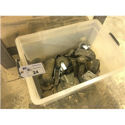 BOX OF ASSORTED CASTERS