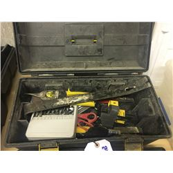 TOOL BOX WITH CONTENTS OF ASSORTED TOOLS