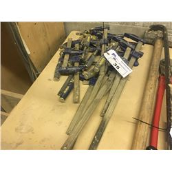 LOT OF ASSORTED MEDIUM CLAMPS