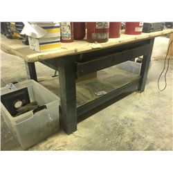 4' X 8' WOOD WORK TABLE WITH DRAWER