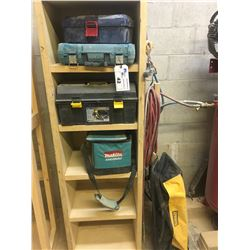 LOT OF TOOL BOXES AND BAGS