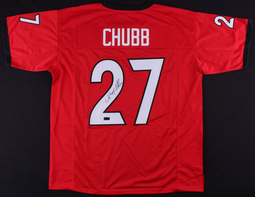 nick chubb authentic game jersey