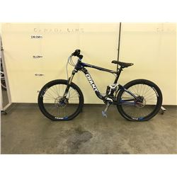 BLACK GIANT TRANCE FULL SUSPENSION MOUNTAIN BIKE WITH FRONT AND REAR HYDRAULIC DISK BRAKES