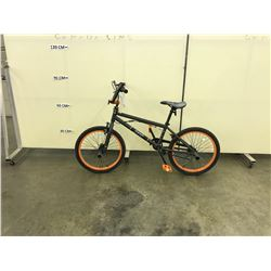 GREY AND ORANGE RANT BMX BIKE WITH GYRO AND 4 PEGS