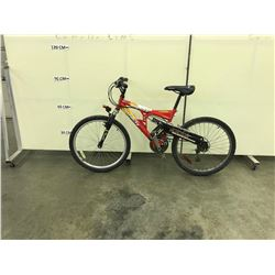 RED INFINITY GRAVITY 21 SPEED FULL SUSPENSION MOUNTAIN BIKE