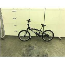 GREY BMX BIKE WITH REAR PEGS AND GYRO