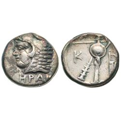 ANCIENT GREEK silver, Bithynia, Herakleia Pontica, Time of Klearchos, 364-352 BC, AR obol