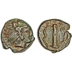 ANCIENT GREEK. Sicily, hemilitron, Selinos, 415-409 AE - Herakles / bow & quiver