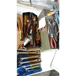 Tool Box, Full Or Tools:  Pliers, Wrenches, Hammer, Etc.