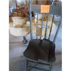 Wooden Chairs, Lamps