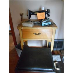 Crescent Sewing Machine and Bench