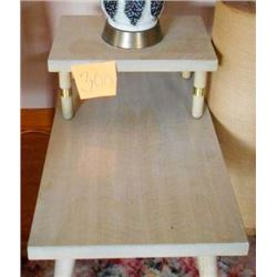 BUNDLE LOT: Vintage Coffee Table, Pair of Vintage Step Tables