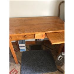 Solid Oak Kid's Desk