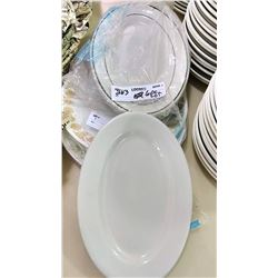 6 PC Serving Platter and Meat Trays