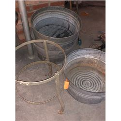 4x Washtubs Grain Tub w/ 1x Stand