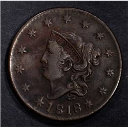 1818 LARGE CENT XF