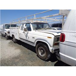 FORD F250 1985 T-DONATION