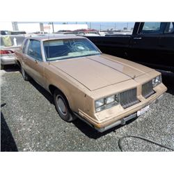 OLDSMOBILE CUTLASS 1984 T-DONATION