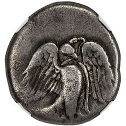 ELIS: OLYMPIA AE stater (11.51g), ca. 432-420 BC. NGC F