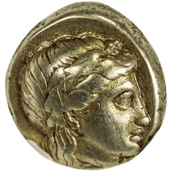 LESBOS: Anonymous, ca. 377-326 BC, EL hecte (1/6 stater), Mytilene. NGC EF