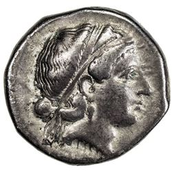 METAPONTION: AR stater (7.63g), 400-350 BC. VF