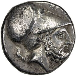 METAPONTION: AR stater (7.52g), 350-330 BC. F-VF