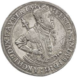 AUSTRIA: Ferdinand I, 1564-1595, AR thaler, Hall mint, ND. VF