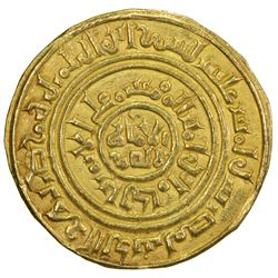 "KINGDOM OF JERUSALEM: Anonymous, ca. 1150-1187, AV bezant (3.74g), ""Misr"", ""AH515"". EF"
