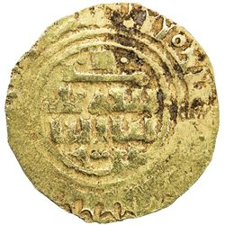 CRUSADERS of Tripoli: al-Mustansir, 1036-1094, AV dinar (3.33g), NM, ND. VF