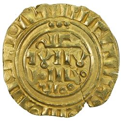 COUNTY OF TRIPOLI: Anonymous, ca. 1180-1220, AV bezant (3.50g), NM, ND. EF