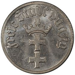 DANZIG: nickel 1/2 gulden, 1932. PCGS MS64