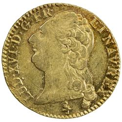 FRANCE: Louis XVI, 1774-1792, AV louis d'or (7.65g), Paris, 1786-A. EF