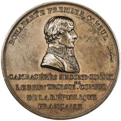 FRANCE: Napoleon I, as First Consul, 1799-1804, AE medal (97.88g), 1800. AU