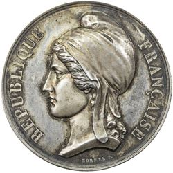 FRANCE: AR medal (63.00g), ND (ca. 1848). AU