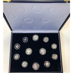 FRANCE: 1989 silver 12-coin piefort set, in original box