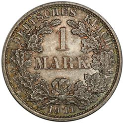 GERMANY: Wilhelm II, 1888-1918, AR mark, 1911-F. PCGS MS65