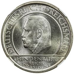 GERMANY: Weimar Republic, AR 5 reichsmark, 1929-A. NGC MS64