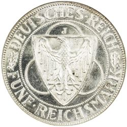 GERMANY: AR 5 mark, 1930-J. NGC MS65